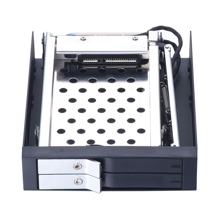 41.70$  Buy now - http://alixao.shopchina.info/go.php?t=32802445695 - dual bay 2.5 inch SATA internal hdd moile rack with lock for floopy pc bay with hot swap hdd enclosure 41.70$ #aliexpress