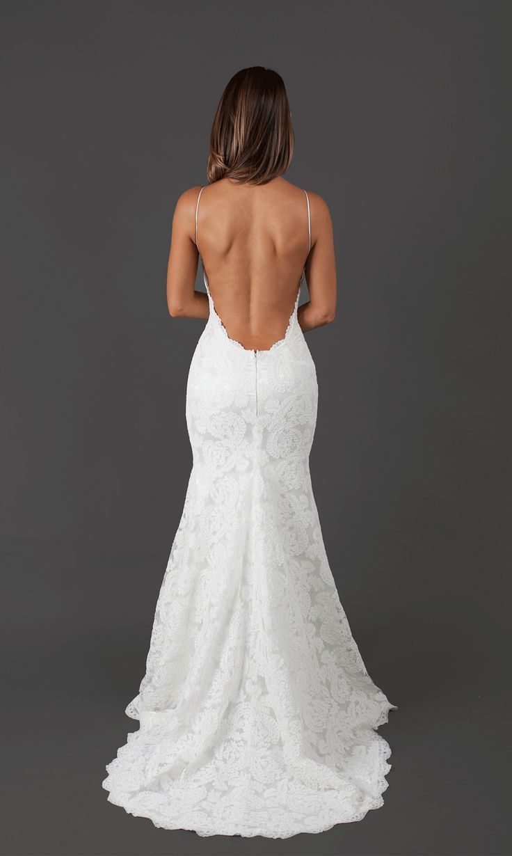 Katie May backless wedding dress. Bridal Gown