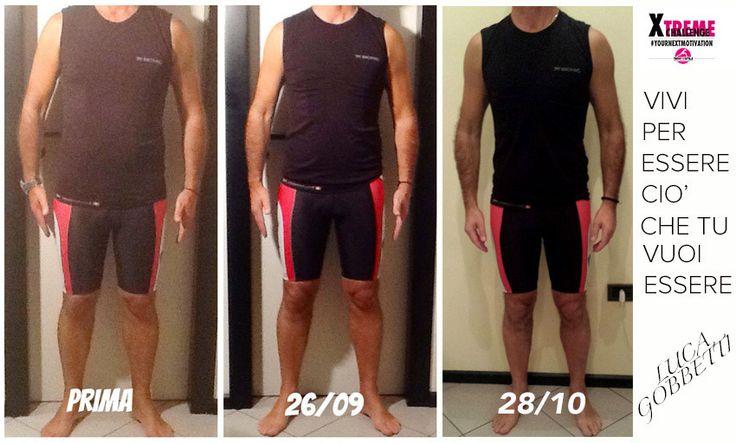 Xtreme Challenge Luca 1 mese dopo meno 7,7 kg - traintosmile