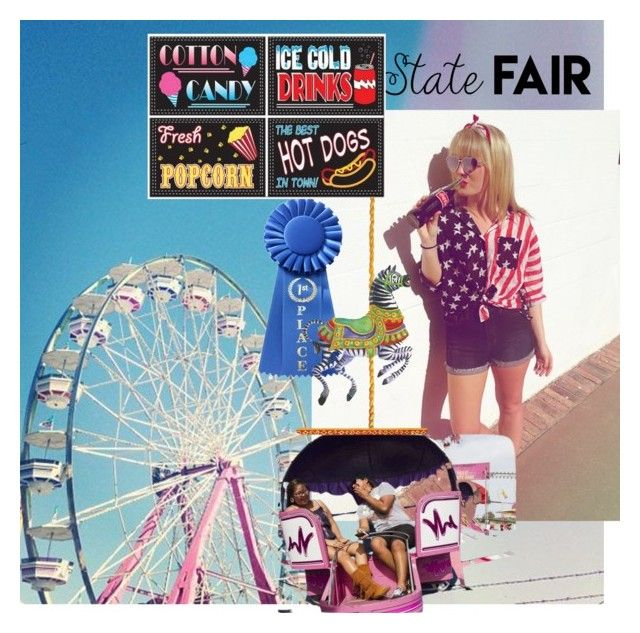 """State fair date ❤️"" by cruzdestanie on Polyvore featuring Caspari, statefair and summerdate"