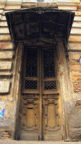 Door on Davit Aghmashenebeli Avenu, Tbilisi - By Ivane Goliadze