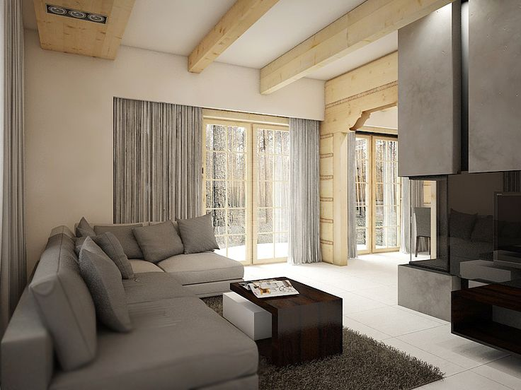 Projekt wnętrza – dom z bali | NatusDESIGN Projektowanie Wnętrz