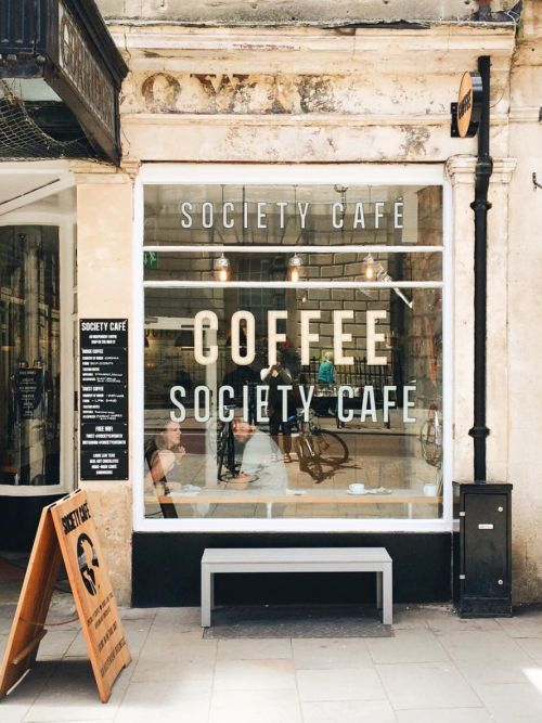 exterior of society cafe, bath, england | foodie travel + coffee shops…