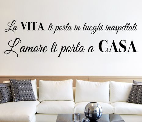 wall sticker ROMANTIC QUOTES L'amore porta a casa big
