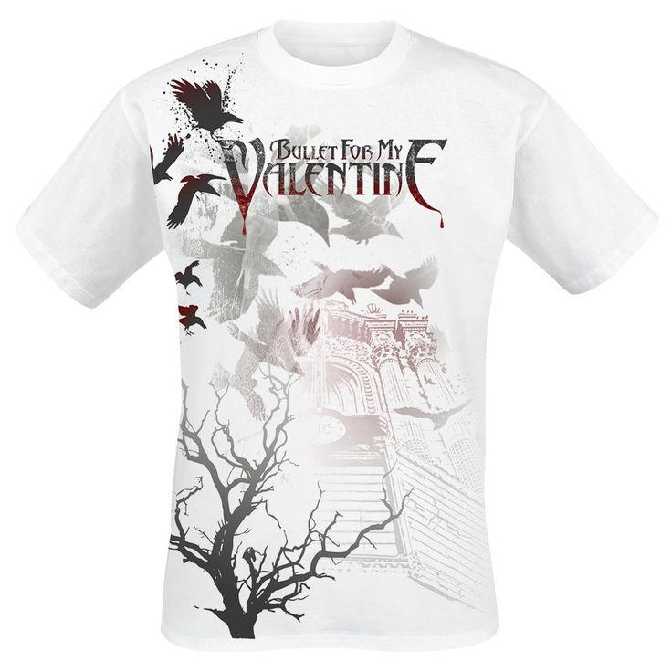 Bullet For My Valentine Crows T-Shirt (front)
