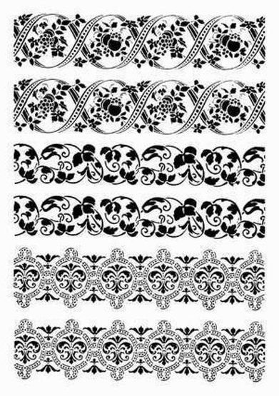 бордюр черно-белый для декупажа: 22 тыс изображений найдено в Яндекс.Картинках