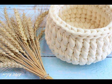(5) איך לסרוג עמוד קצר למרכז התך Crochet center HDC - YouTube