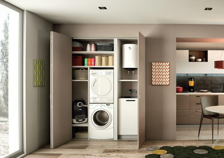 Oltre 25 fantastiche idee su armadi lavanderia su - Ante scorrevoli cucina ikea ...