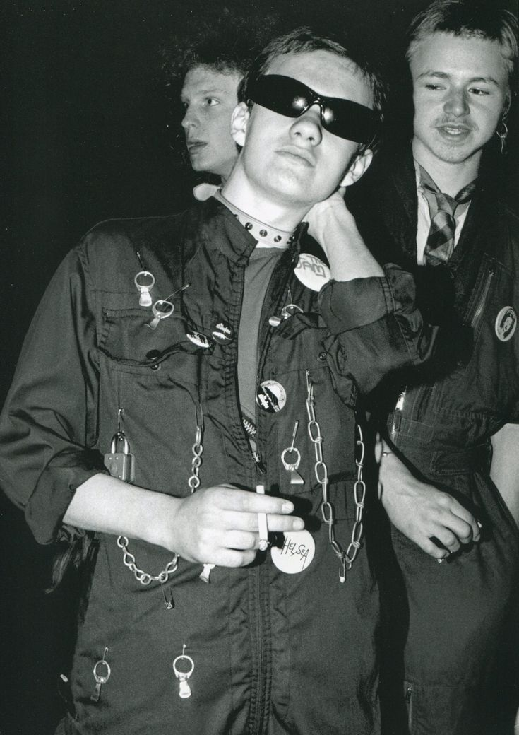 Punks at a Stranglers gig at the Roundhouse, London. Photographed by Sheila Rock, 1977.