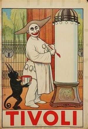 Lauritz.com - Grafik - Alfred Schmidt. Plakat, 'Tivoli', litografi, 1913 - DK, Vejle, Dandyvej