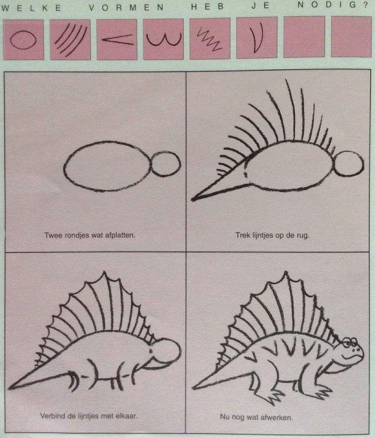 Dino leren tekenen