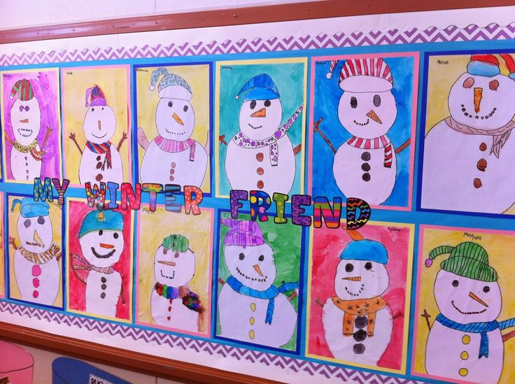 Quot Winter Friend Quot Snowman Directed Drawing And Watercolor