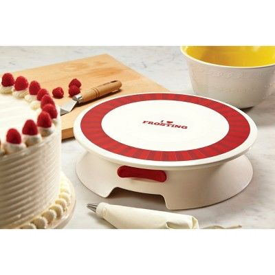 Cake Boss Decorating Tools Plastic Cake Decorating Turntable with I Love Frosting