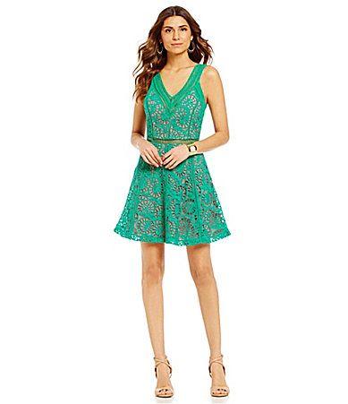 Gianni Bini Tori VNeck Lace Dress #Dillards