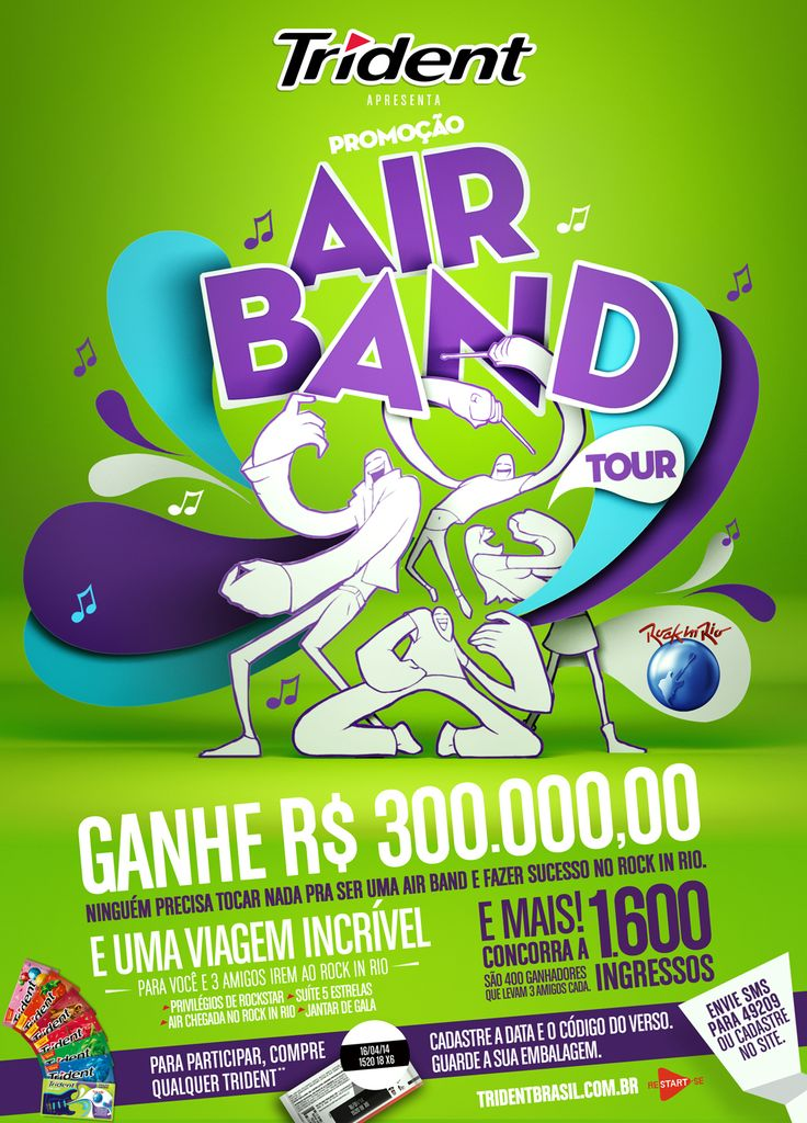 Promoção Trident Air Band on Behance