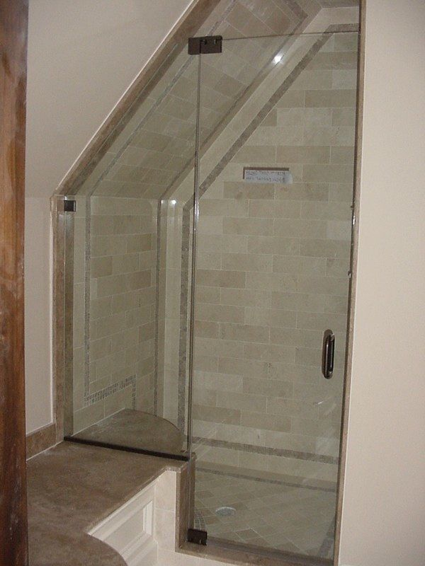 Shower With Angled Ceiling Panel Shower Door With Angled