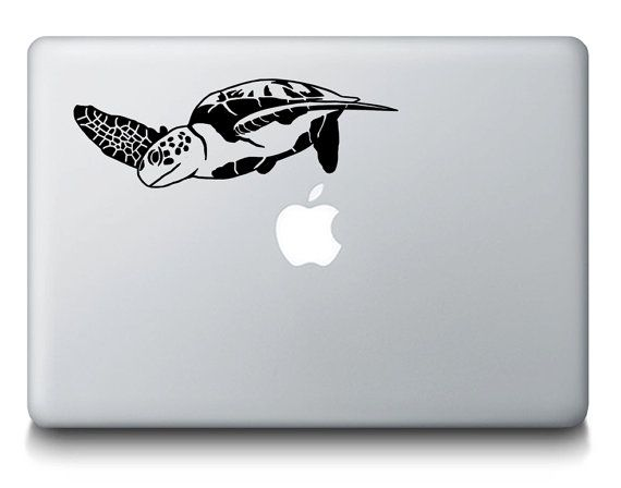 Sea Turtle MacBook Decal  Ocean Wildlife by StickerBrosDecals