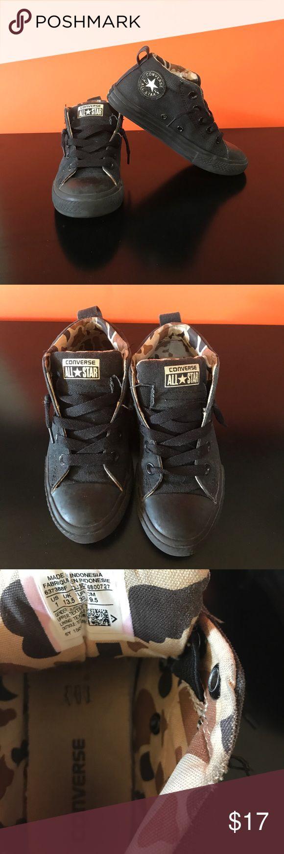 Boys Converse slip on sneaker Size 1 boys black sneaker. Easy wear with no hassle shoe strings.  Great uniform shoe.  Nearly new. Converse Shoes Sneakers