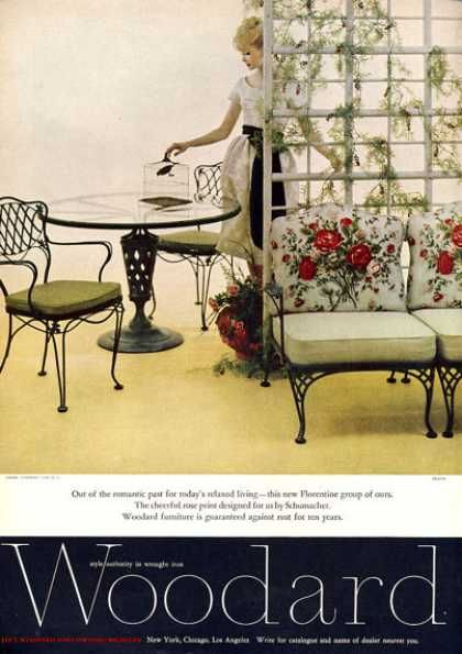 Vintage Furniture Ads Of The 1960s . Woodard Wrought Iron Furniture Rose  (1960)