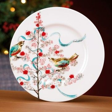 Simply Fine Lenox Chirp Seasonal Salad Plate - Contemporary - Holiday Decorations - Lenox