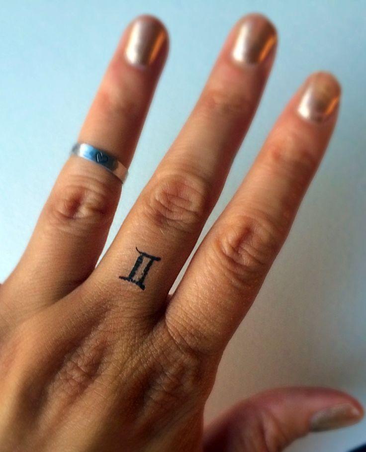 Gemini temporary tattoo fake tattoos finger tattoos for Temporary finger tattoos