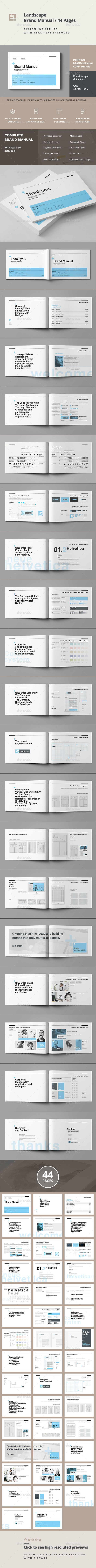 Brand Manual Template InDesign INDD #design Download: http://graphicriver.net/item/brand-manual/14411205?ref=ksioks