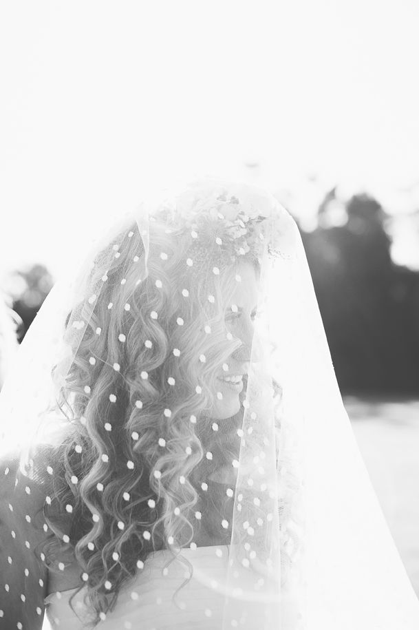 It would be awesome to photograph a bride with a polka dot veil!
