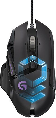 Logitech G502 Proteus Spectrum RGB Tunable Gaming Maus (mit 11�programmierbaren Tasten) schwarz