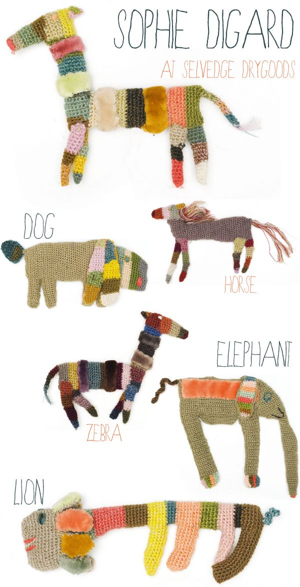 crochet brooches by Sophie Digard at Selvedge Drygoods #crochetdesigner | emmallamb.blogspot.com
