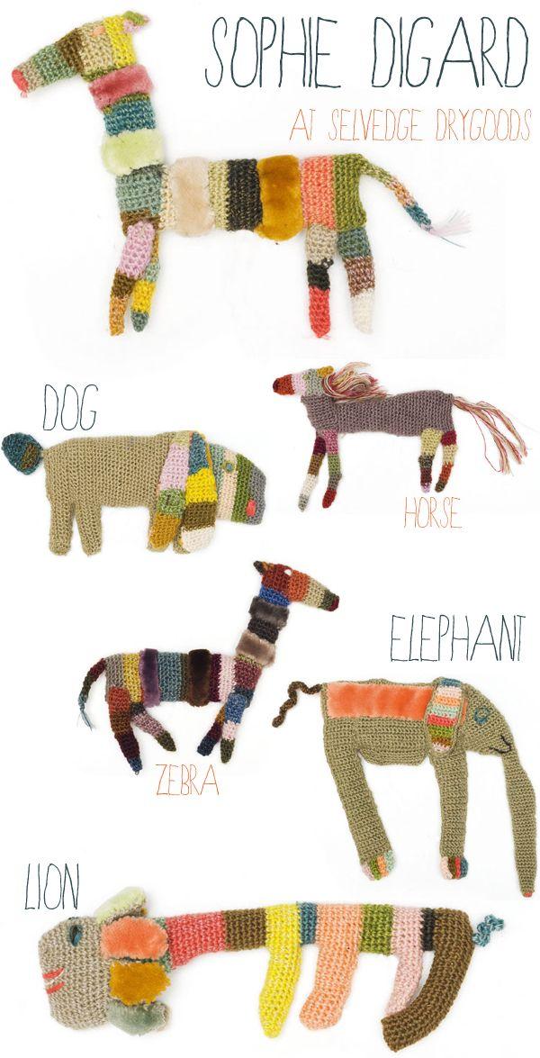 crochet brooches by Sophie Digard at Selvedge Drygoods #crochetdesigner   emmallamb.blogspot.com