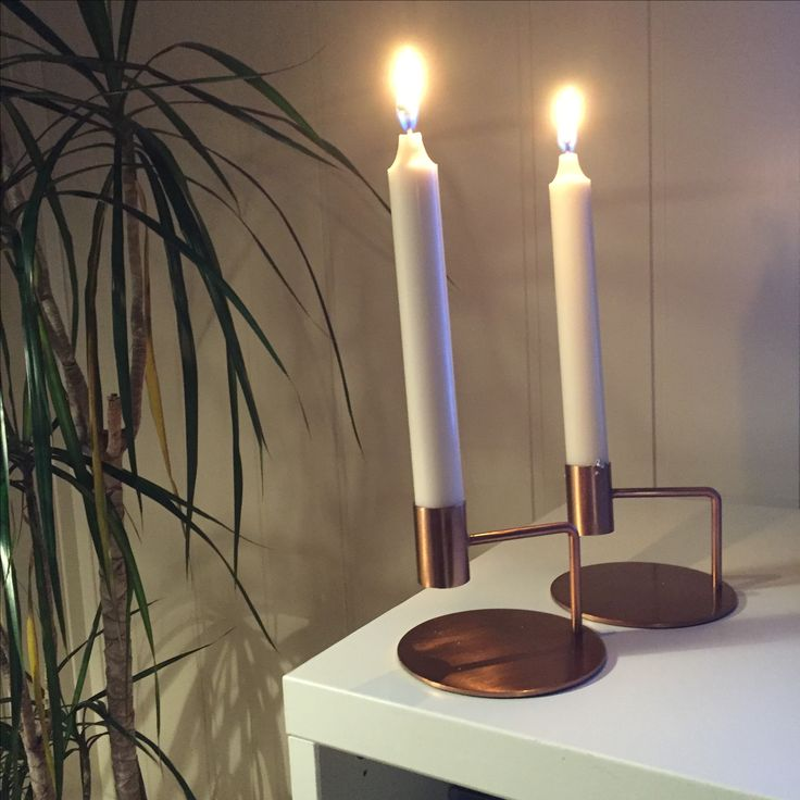 """New favorites! Candle holder in """"copper""""."""