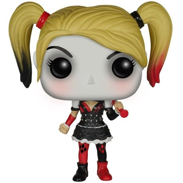 Funko Batman Arkham Knight Harley Quinn POP! Action Figure ($12) ❤ liked on Polyvore featuring toys