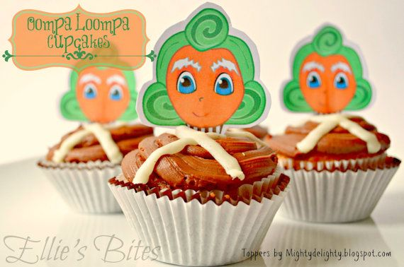 Hey, I found this really awesome Etsy listing at http://www.etsy.com/listing/157768648/oompa-loompa-cupcake-toppers