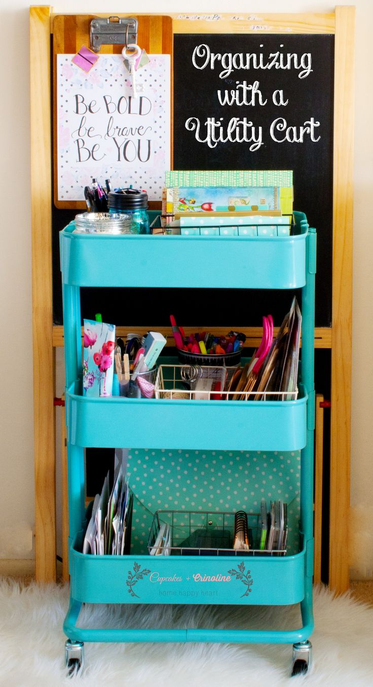 32 Best Images About Utility Cart Organizing On Pinterest Ikea Products Apartment Therapy And