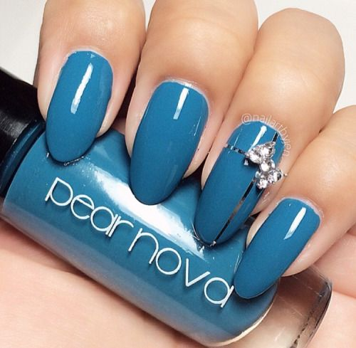 Pear Nova Nail Lacquer 'Boystown Blues' #pearnova #nails  #nailpolish #cosmetics #women #beauty #shopnow #nailart #manicure