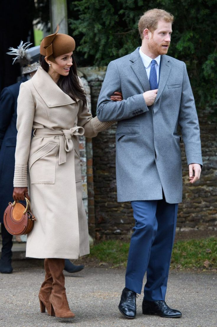 December 25, 2017: Prince Harry and Meghan Markle - Christmas Day with the Royal family.