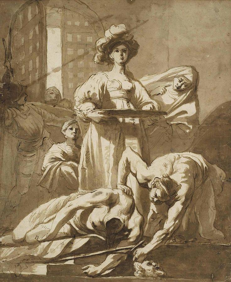 Nicolaus Knupfer (1603-1660) Salome Recevant La Tete De Saint Jean-Baptiste (335 x 280 mm)