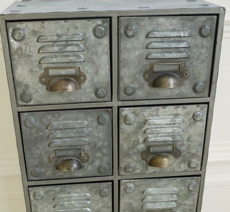 £65 W31cm	H60cm Vintage Industrial Metal Cabinet 8 Draw Retro style Storage Furniture in Home, Furniture & DIY, Furniture, Cabinets & Cupboards | eBay!