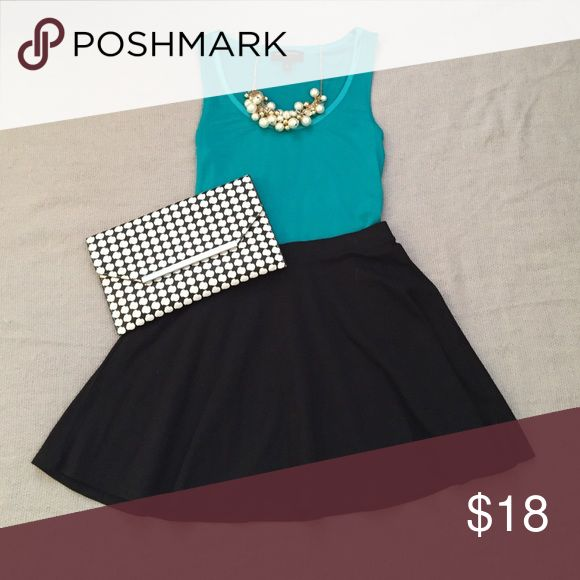Black skater skirt Twirl-ready perfection. Dress this little black skater skirt up or down! Size on tag is M but fits like a XS/S Skirts Circle & Skater