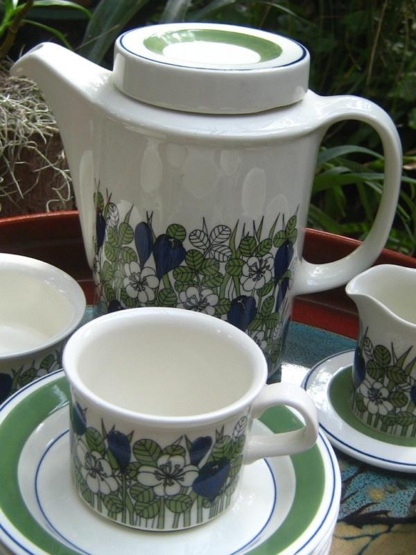 Arabia Finland Faenza Series coffee set Krokus pattern - eBay Australia