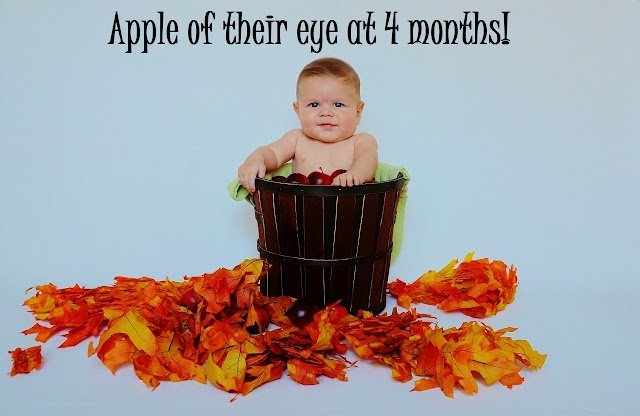 September baby ethan goes apple picking