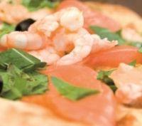 Recette Pizza au saumon et aux crevettes