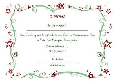 Educ@ naWeb ....Pré-Escolar: Diplomas de Finalistas