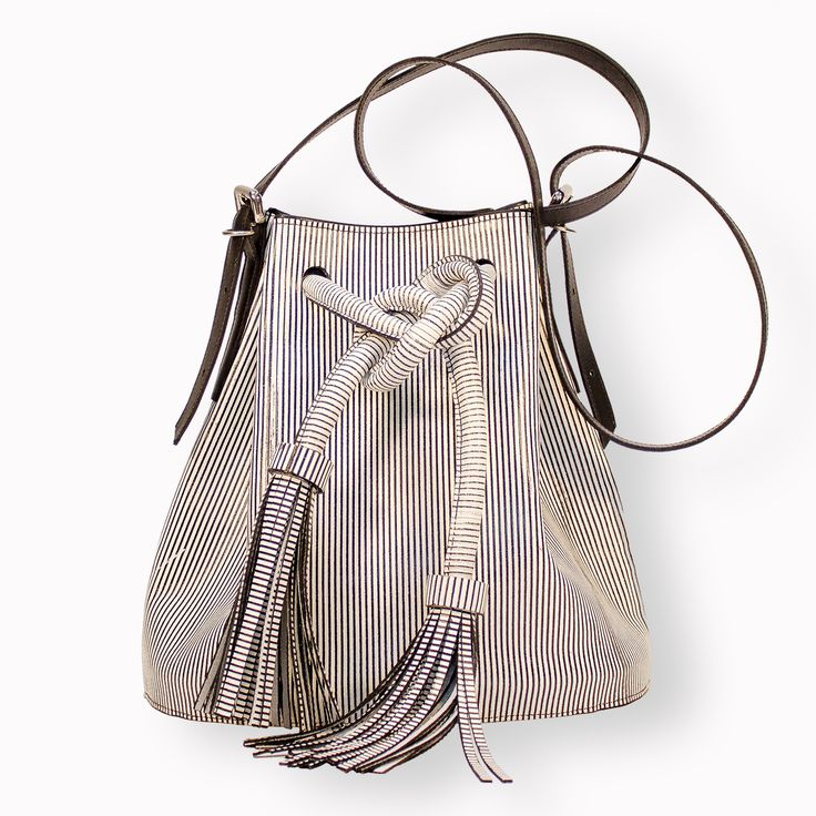 A beautiful handmade leather bucket bag from SARAH CONNERS