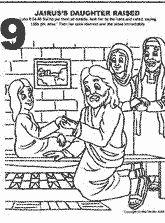 Jairuss Daughter Raised Bible Coloring PagesChurch