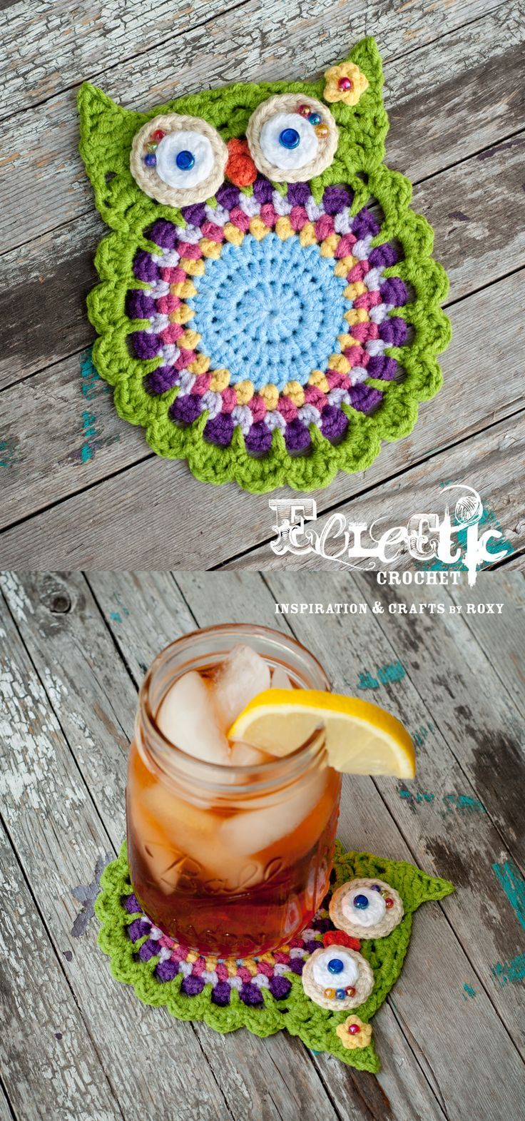 Love these crochet owl coasters!!!! Great pattern that was very easy to follow and has good demo pics