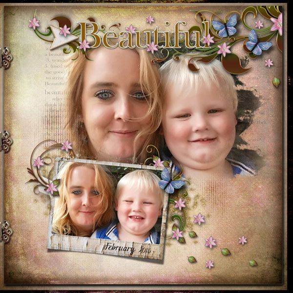Mother and Son by Janet. Kits by Lora Speiser: Love Blooms Here and Love Blooms Here Too http://scrapbird.com/designers-c-73/k-m-c-73_516/lora-speiser-c-73_516_512/love-blooms-here-page-kit-p-15943.html And http://scrapbird.com/designers-c-73/k-m-c-73_516/lora-speiser-c-73_516_512/love-blooms-here-too-page-kit-p-15944.html