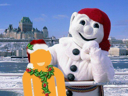 Bonhomme, the official mascot of Quebec's Winter Carnival