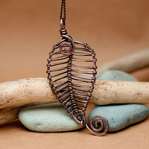 Woven Leaf Pendant - I love this! To DIY
