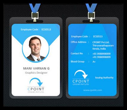Id Cards Design Pertaminico - Id badge template photoshop
